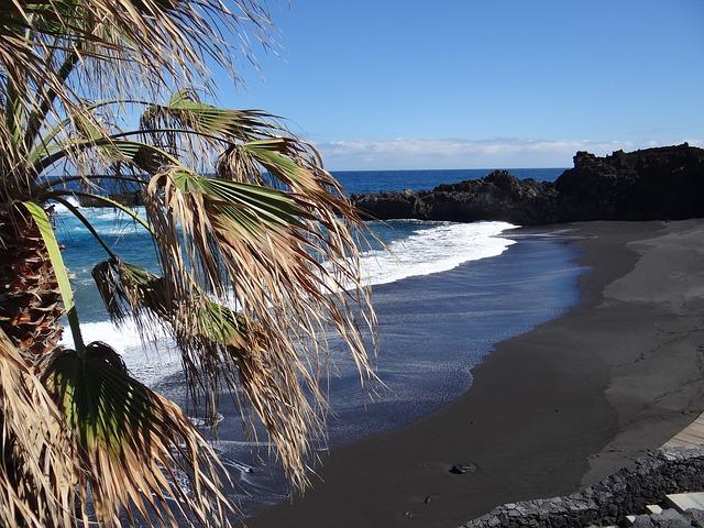 la palma canarias - playas arenas negras